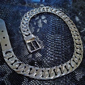 Gucci Vintage Stainless Steel Flat Chain L…